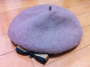 お気に入りのベレー帽