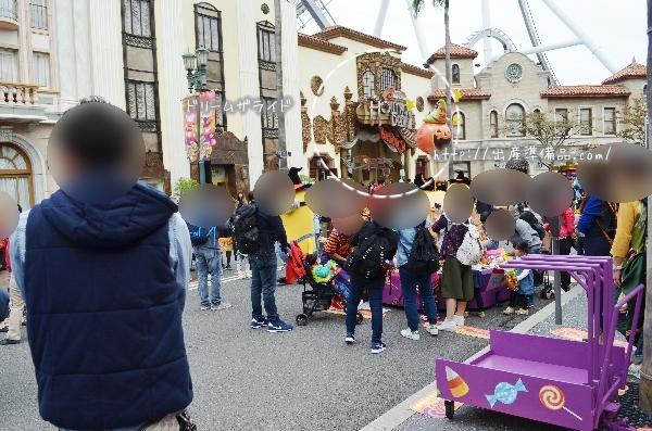 USJハロウィン「お菓子のつかみ取り」の開催場所