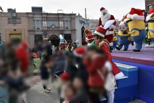 サンタさんと記念撮影