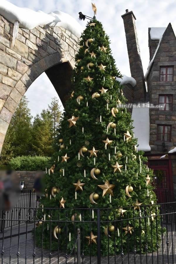 USJハリーポッターのクリスマスツリー
