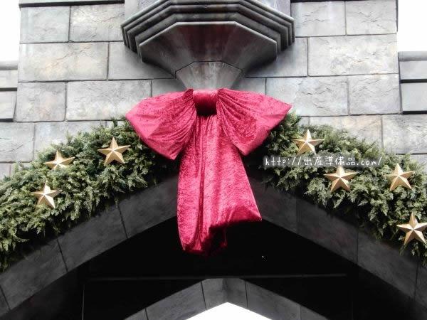 USJハリーポッターエリアのクリスマス