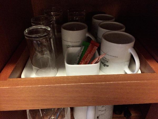 ツインルームのコップやカップ