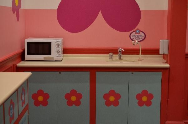 電子レンジや手洗い場