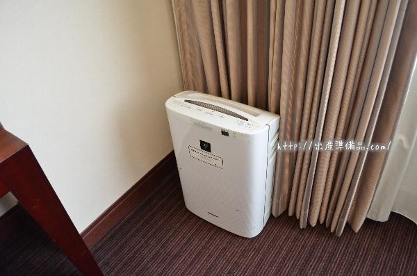 ホテル京阪ユニバーサル・タワーの全室加湿器(空気洗浄機付)