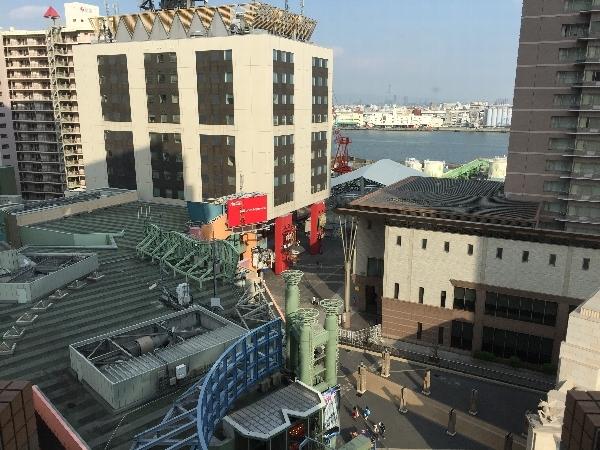 ホテル近鉄ユニバーサル・シティのカジュアルツインルームの部屋からの眺めァ