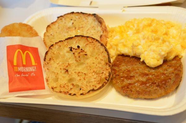 マクドナルドの朝食セット