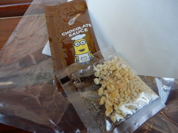 ミニオンプチワッフルチョコレートソース味