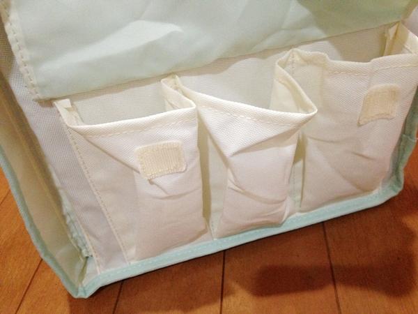 おむつ替え用品の収納ケース サイドポケット