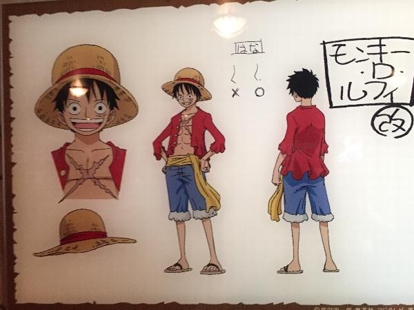 ルフィ、尾田栄一郎さんの原画