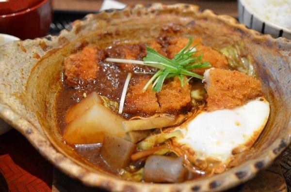 四元豚ロースの味噌かつ煮定食