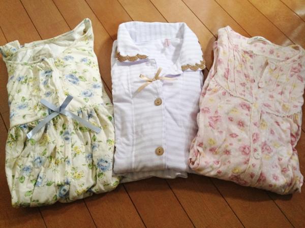 分娩入院用のパジャマ