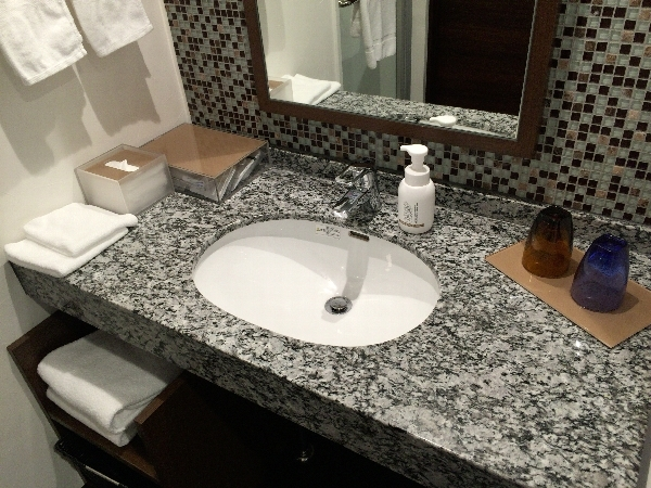パークフロントホテルの洗面台