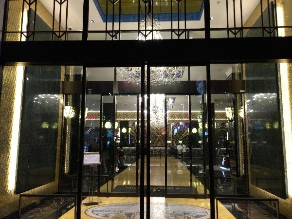 パークフロントホテルの正面玄関