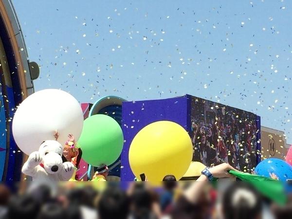 リボーンパーティーの巨大風船