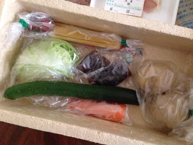 ショクブンの野菜が届いた所