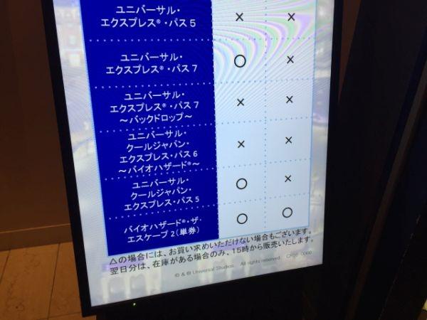 クールジャパンのチケットの当日分