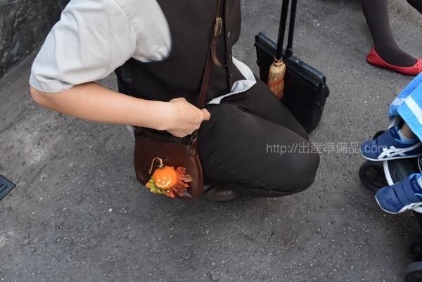 <% pageTitle %>&#8221; /></p> <p>なお、スタッフの方でこんなかばんを持っている人を見つけて「トリックオアトリート!」と子供が言えば、アメを貰う事ができます。<br /> こちらはハリーポッターエリア(昼の魔法界)での様子で、キャンディをもらえました!</p> <div class=
