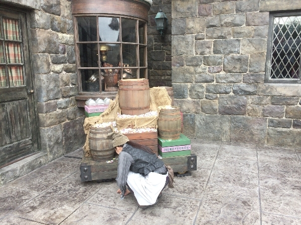<% pageTitle %>&#8221; /></p> <p>こちらがレストラン三本の箒の前にある木樽のマジカル・トリック・オア・トリートです。</p> <p class=