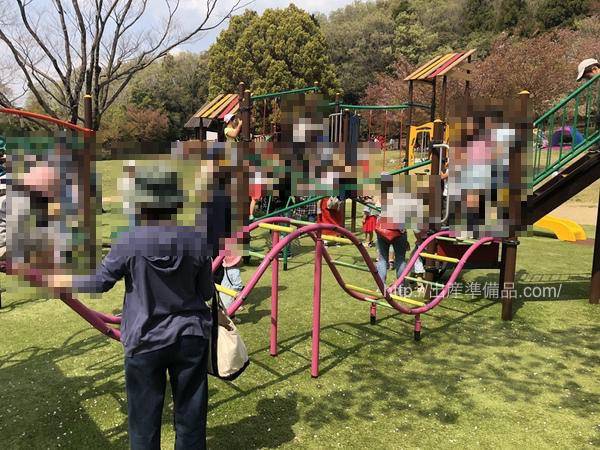 グリーンピア春日井のアスレチック遊具