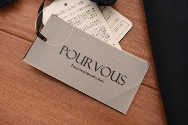 PourVousレース&プリーツサックワンピース